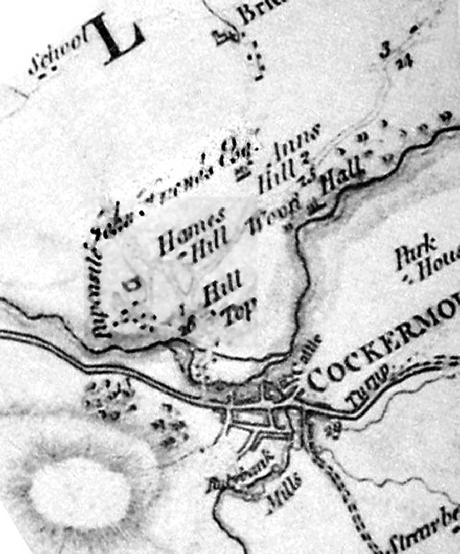 Extract from Thomas Donald's 1774 map