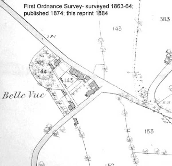 1864 OS Belle Vue Map