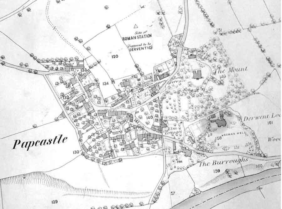Ordnance Survey 1863-4 printed 1874