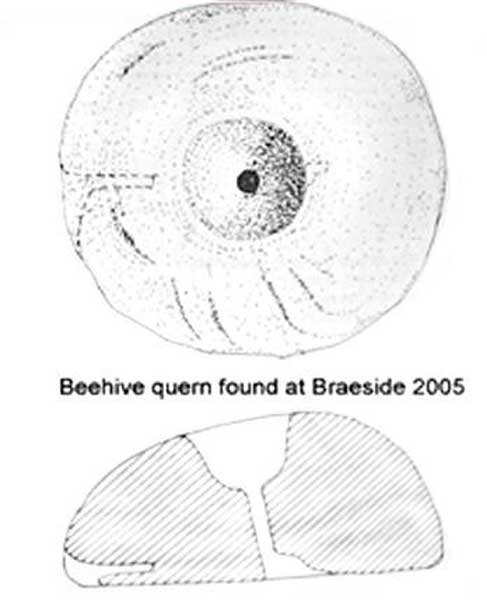 Beehive Quern found at Braeside 2005