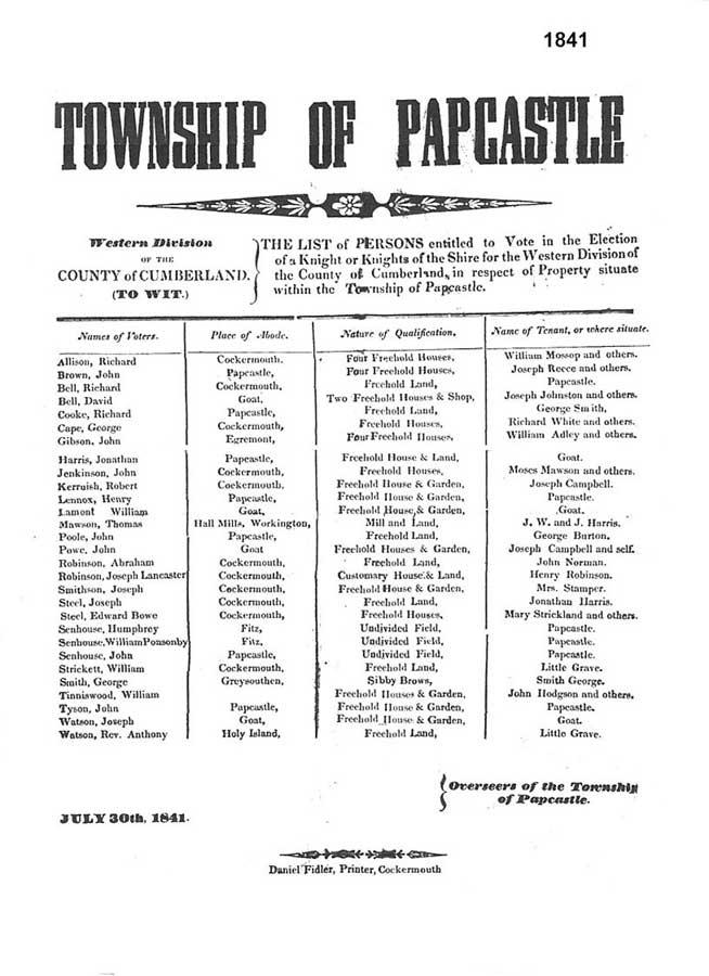 Electors 1841