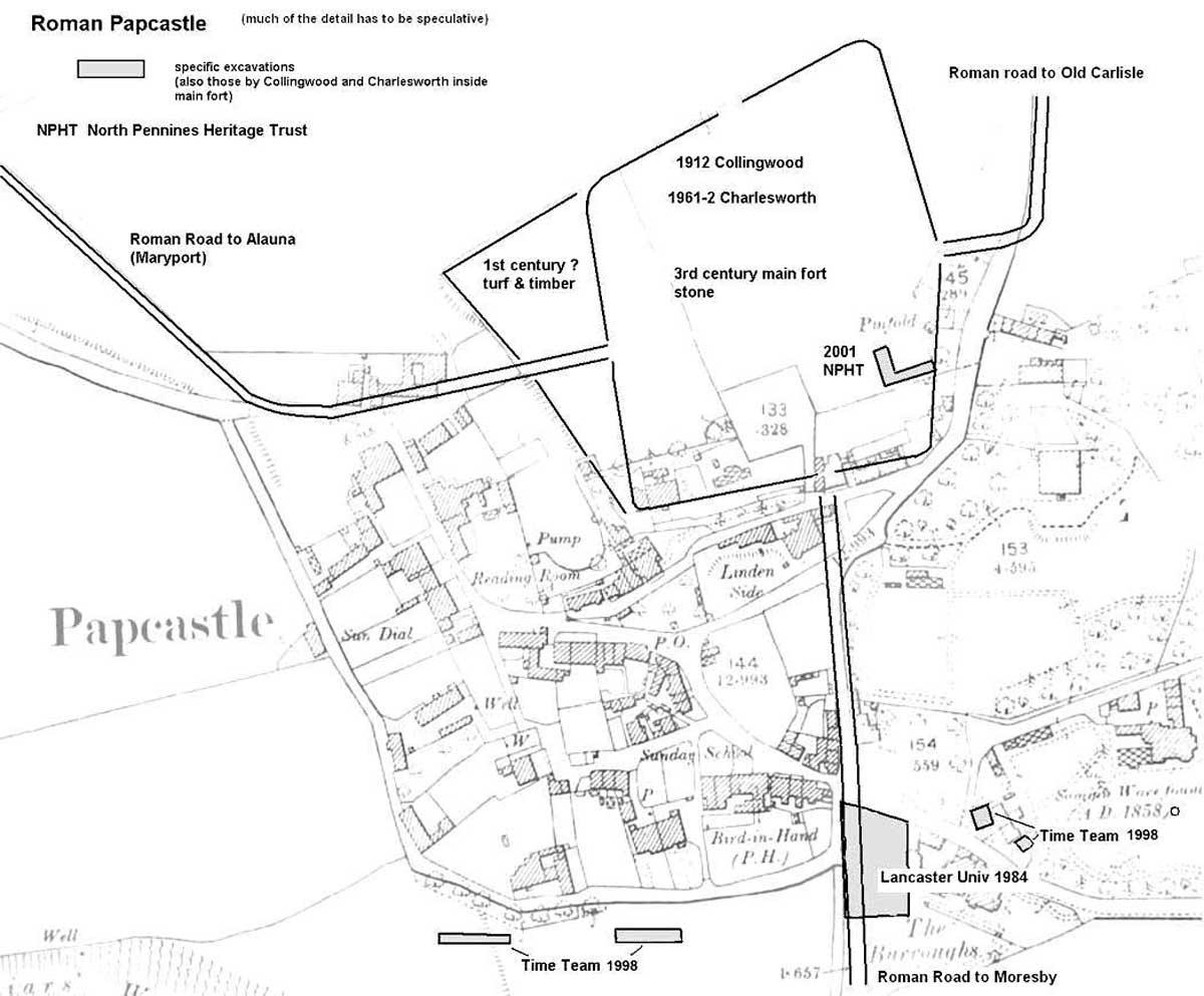 Roman Papcastle Map